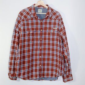 Lucky Brand Red & Blue Button Down Long Sleeve